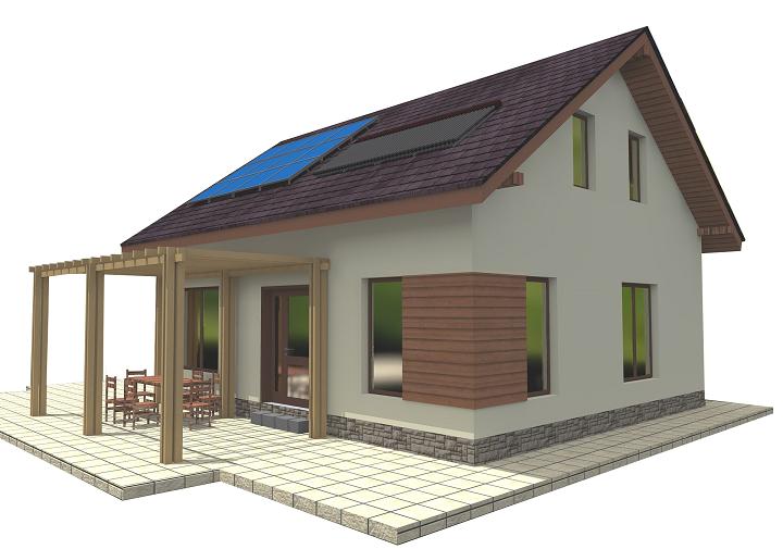 Casa modelo 3D