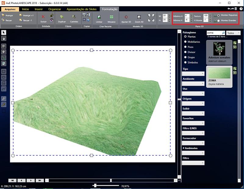 Veja como criar grandes e pequenos montes no Plano 3D