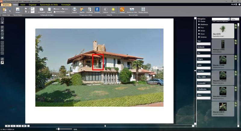 Determinando  um ponto de referência na imagem